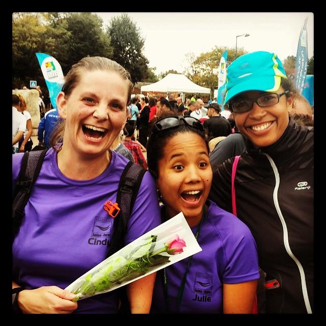 3 des 6 caselles après l'effort !  #Ekiden  #MarathonSeineEure <3 girlzzz