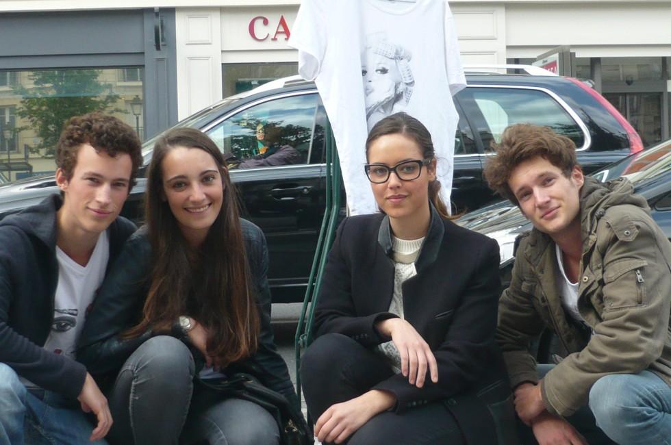 De droite à gauche, François, Pauline, Mélanie et Marc