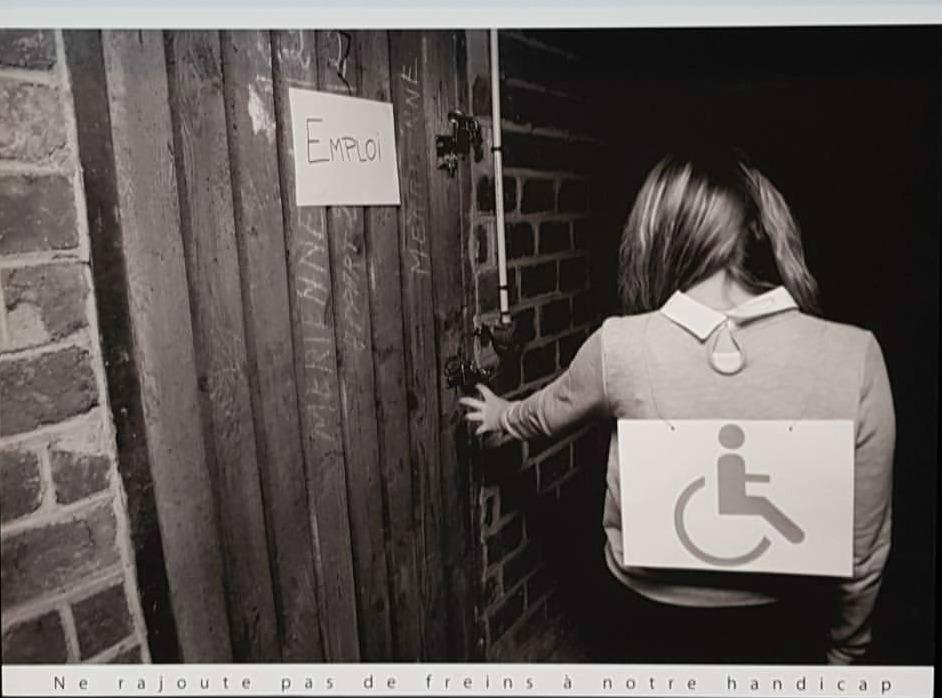 Une des photos de l'exposition Emploi & Handicap
