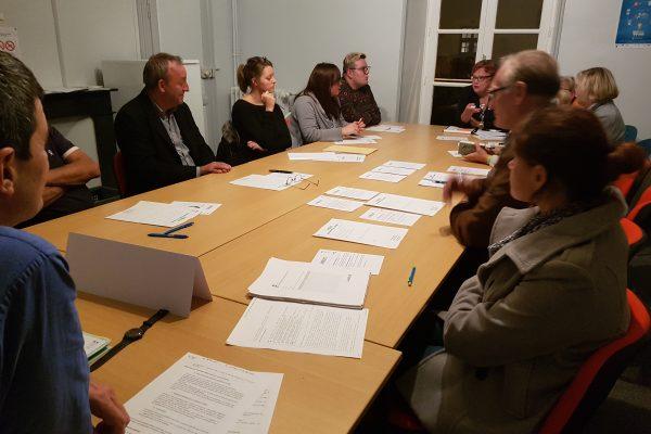 Photo prise lors de l'atelier de Mortagne au Perche dans le cadre des Assises de la Mobilité