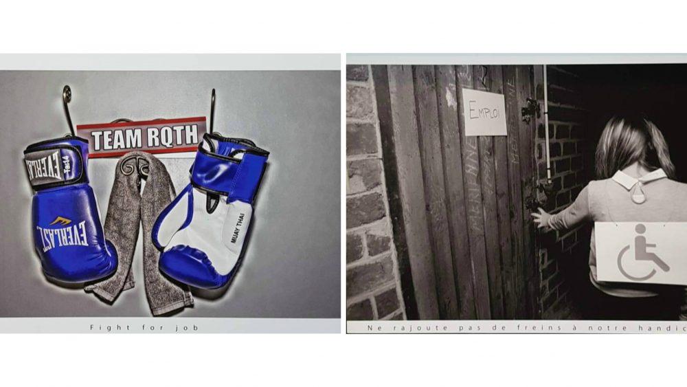 Exemple de deux photos de l'exposition réalisée dans le cadre de la Semaine du Handicap