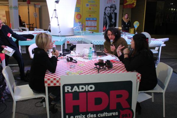 Plateau radio au salon de l'étudiant de Rouen, avec HDR