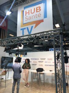 Plateau Hub Santé TV lors de l'édition 2019 de #PHW19